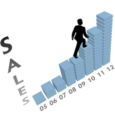 Business Sales Graph vector image