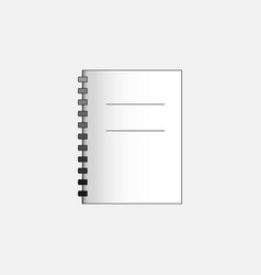 Business symbol of notebook web line icon vector
