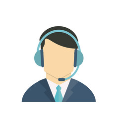 Call center avatar vector
