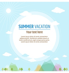 Cards Summer vacation vector