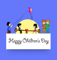 childrens day background vector image