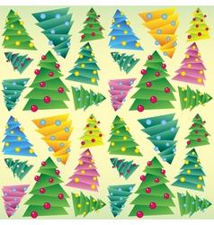Christmas tree seamless ornament vector