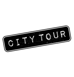 City Tour rubber stamp vector image