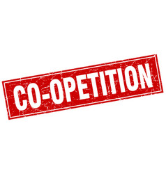 co-opetition square stamp vector image