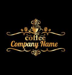 coffee company 03 vector image