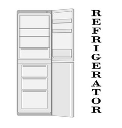 color of the refrigerator vector image