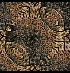 Copper greek seamless pattern ornamental vector