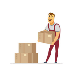 delivery service - cartoon people characters vector image