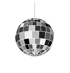 Disco ball icon nightlife 70s retro disco party vector