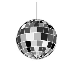Disco ball icon nightlife of 70s retro disco party vector