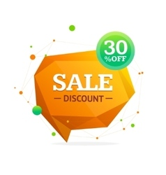 Discount Banner Sticker vector image