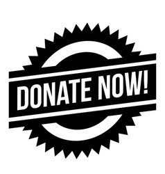 Donate now stamp typ vector