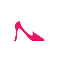 Elegant women shoe icon vector