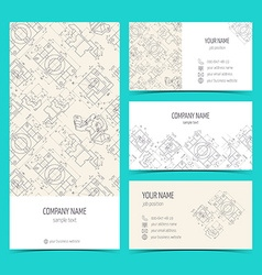 Engineering business cards flyers leaflets vector