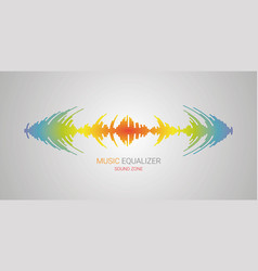 equalizer music player audio colorful wave logo vector image