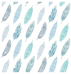 Ethnic Feathers Seamless Pattern vector image