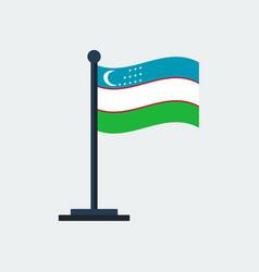 Flag of uzbekistanflag stand vector