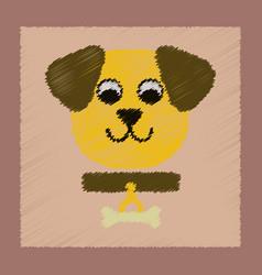flat shading style icon pet dog vector image