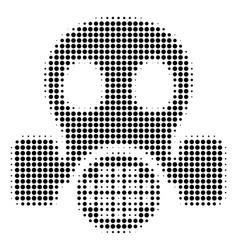 Gas mask halftone icon vector