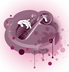 Grunge abstract music composition vector