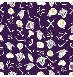 Halloween skeletons pattern 04 vector