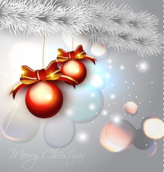 hanging xmas ball vector image