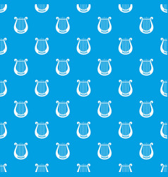 Harp pattern seamless blue vector