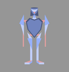 icon in flat design toy robot vector image