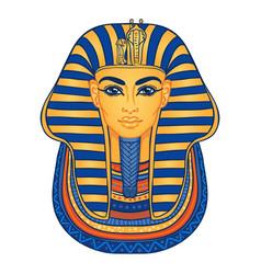 King tutankhamun mask ancient egyptian pharaoh vector