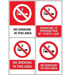 Label set no smoking vector