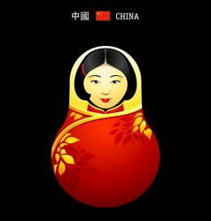 Matryoshka China girl vector