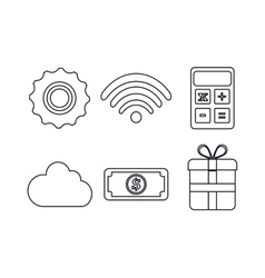 Media design Set of Silhouette icon vector