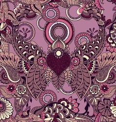 Mehndy flowers pattern vector image