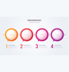 Minimalistic infographic concept with 4 options vector