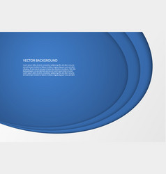 modern simple oval blue and white background vector image
