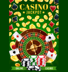 online gambling game casino and wheel fortune vector image
