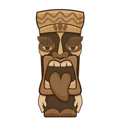 Polynesian idol icon cartoon style vector