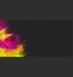 Powder holi paints frame border solated vector