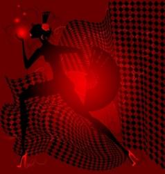 Red dance vector