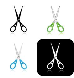 scissors icons vector image