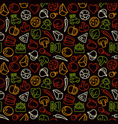 seamless pattern for pizzeria vector image vector image