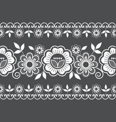 Seamless wedding laace pattern ornamental design vector