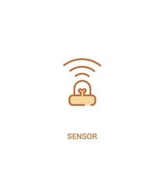 Sensor concept 2 colored icon simple line element vector
