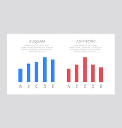 Set blue and red elements for infographic vector
