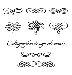 Set calligraphic and page decoration vector