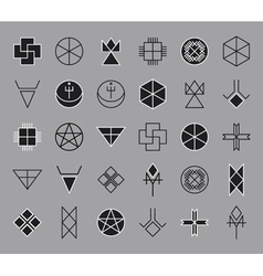 Set of geometric hipster shapes14 vector image