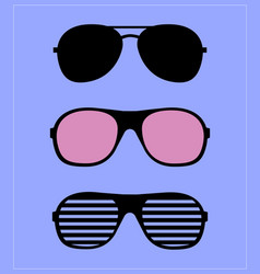 set sunglasses glasses vector image
