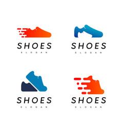 shoes logo design inspiration vector image