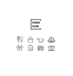 Simple line farm vector