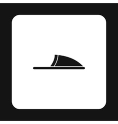 Slippers icon simple style vector